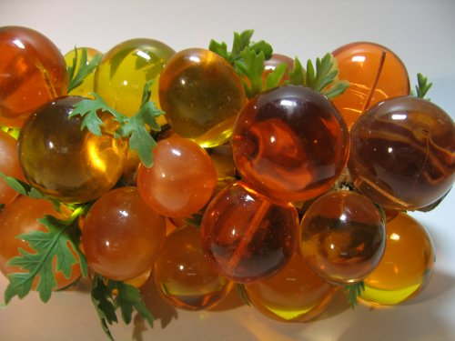 Lucite Colored Grapes