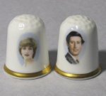 Prince Charles and Lady Diana Thimbles