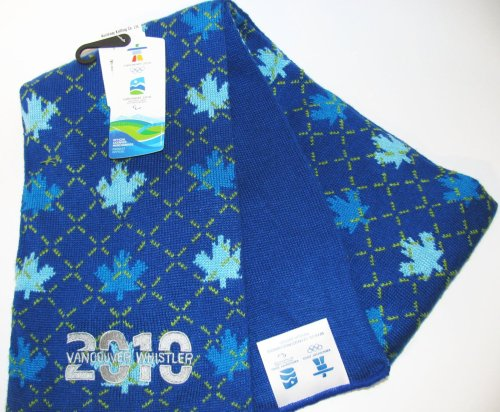 Official Vancouver 2010 Whistler Olympic Scarf Argyle Pattern
