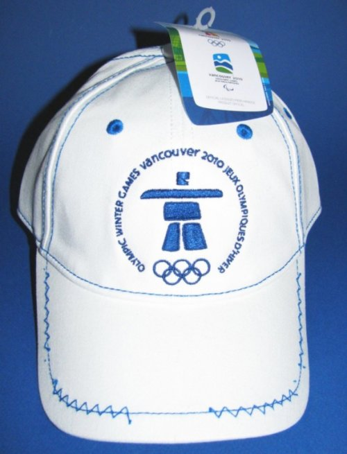 Official Olympic Vancouver Ball Cap Zig-Zag Stitching