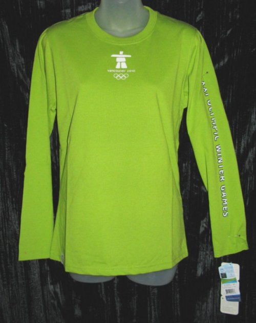 Official Vancouver Olympic Ladies Green Shirt