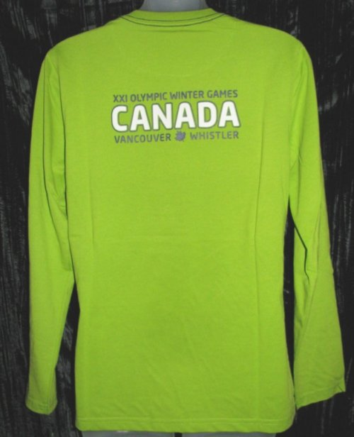 Official Vancouver Olympic Ladies Green Shirt Canada