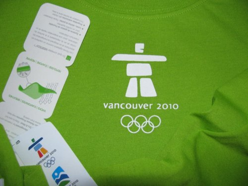 Inukshuk on Green Olympic Shirt