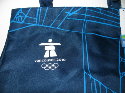 Official Vancouver Olympics Blue Tote Bag