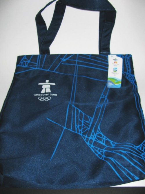 Official Vancouver Olympic Games Blue Tote Bag