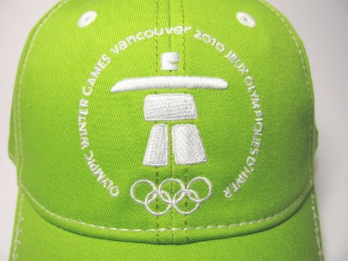 Official Vancouver Olympics Inukshuk Green Ball Cap