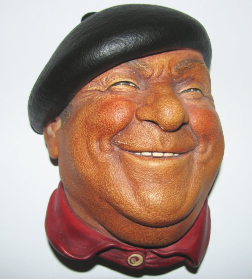 Bossons Pierre Chalkware Head