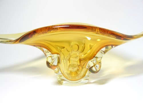 Amber Gold Raised Canadian Art Glass