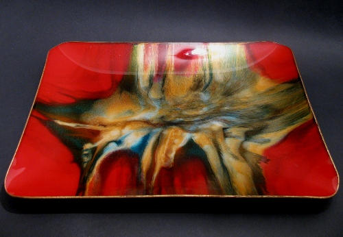 Seetusee Red Gold Melt Glassware Dish