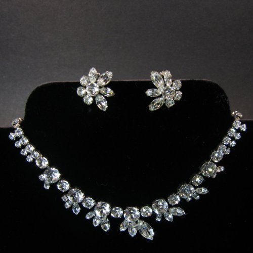 Sherman Clear Necklace and Earrings
