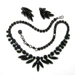 Black Necklace and Earrings