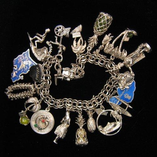 Vintage Sterling Charm Bracelet At Cly Option