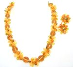 Signed West Germany Amber Lucite Necklace