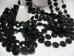 Black Faceted Necklace