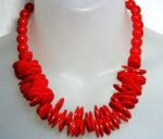 Hot Red Lucite Necklace