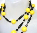 Yellow Black Lucite Necklace