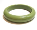 Olive Green Bakelite Bangle