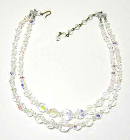 Vintage Crystal AB Necklace
