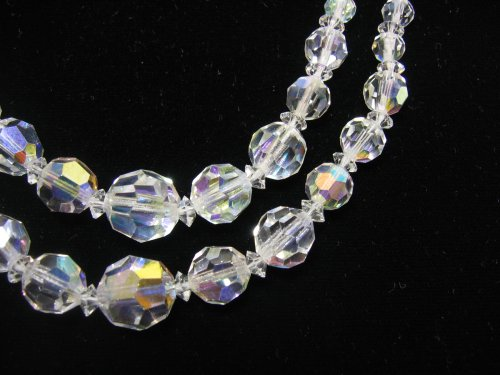 Vintage Glass Crystal Necklace