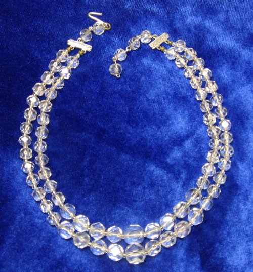 Vintage Crystal Necklace 2 Strand