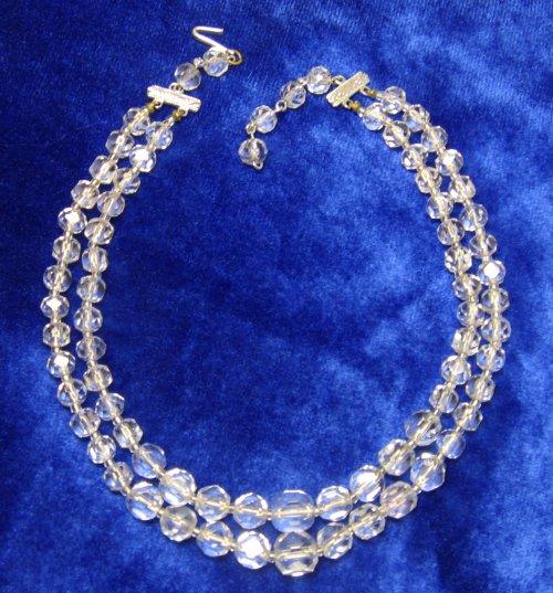 Vintage Crystal Necklace 2 Strand