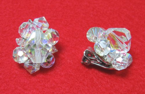 Vintage Signed Coro Crystal Earrings