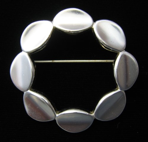 Monet Modernist Circle Brooch