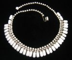 Vintage Kramer of New York Milk Glass Necklace