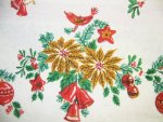 Vintage Birds and Ornaments Christmas Tablecloth