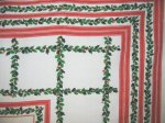 Vintage Christmas Holly Tablecloth
