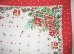 Vintage Christmas Tablecloth Santas Hearts and more