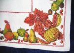 Vintage Pumpkins and Fruits Tablecloth