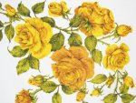 Yellow Texas Roses Tablecloth
