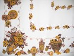 Vintage Golden Fruits Tablecloth