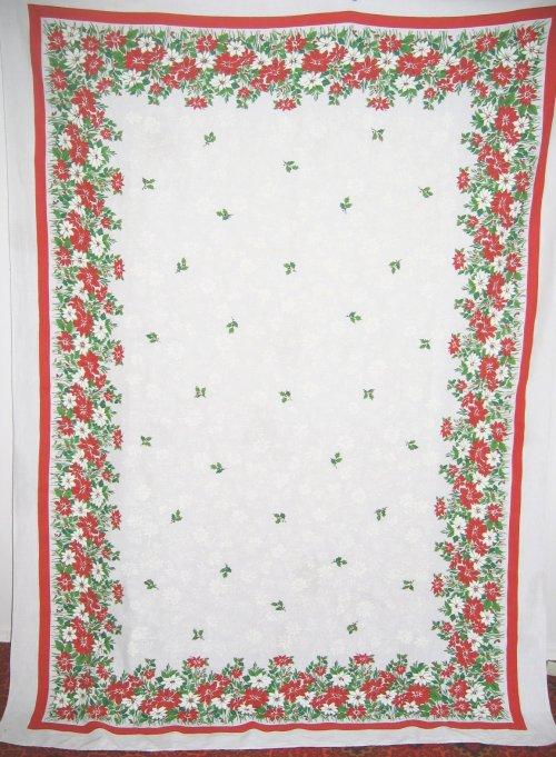 Christmas Phantom Poinsettia Tablecloth