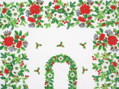 Poinsettia Apple Blossoms Tablecloth