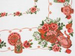 Red Floral Banquet Tablecloth