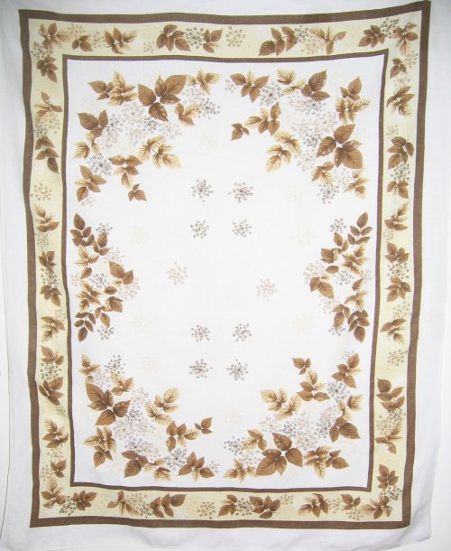 Fall Maple Leaves Linen Tablecloth