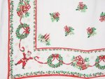 Vintage Jolly Santa Tablecloth