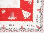 Vintage Noel Christmas Tablecloth