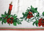 Candles Bows Christmas Tablecloth