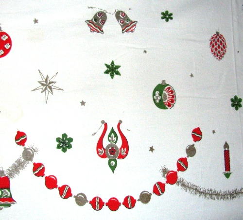 Eames Era Christmas Tablecloth