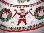 Jolly Santa Christmas Tablecloth