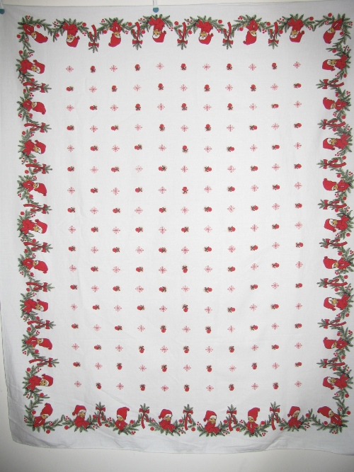 Pixie Elves Christmas Tablecloth