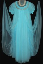 Vintage Robin Egg Blue Peignoir