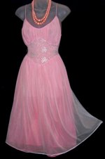 Rogers Pink Blue Babydoll Nightgown