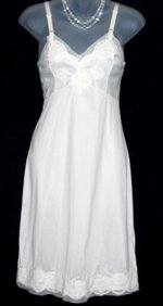 Gay-Lure White Lace Chiffon Full Slip