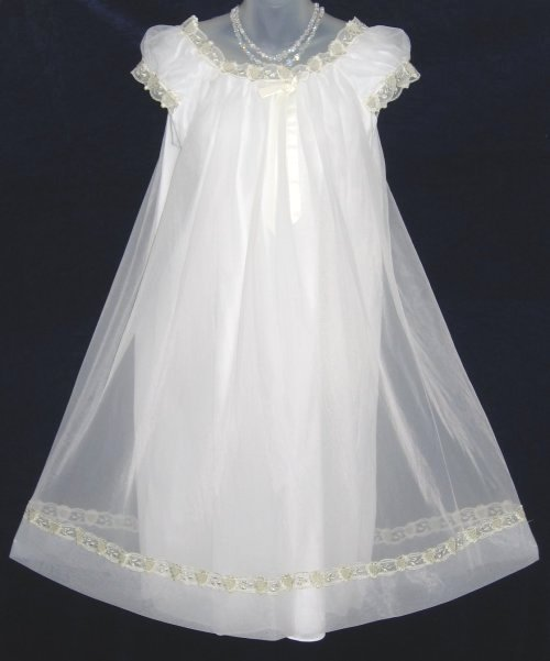 Vanity Fair Ivory Chiffon Nightgown