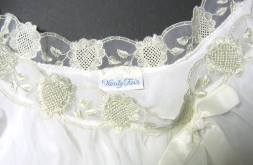 Vintage Vanity Fair Tag with Embroidered Hearts