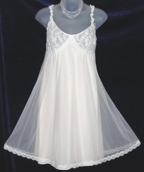 Vintage Vanity Fair Sheer Babydoll Nightgown of Set
